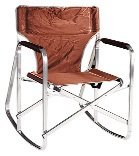 Ming's Mark Inc Rocking Director's Chair Brown SL-1205-BROWN