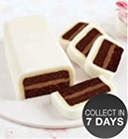 Chocolate Ivory Icing Cutting Bar Cake