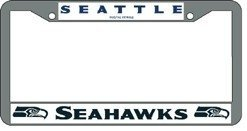 Seattle Seahawks Chrome License Plate Frame at Amazon.com