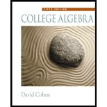 College Algebra - Textbook Only (0005728290) by Cohen, David