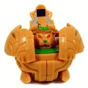 Bakugan Battle Brawlers Game Single LOOSE Figure Subterra Tigrerra (Brown) - 1