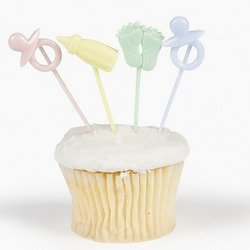 Fun Express Baby Shower Cupcake Food Picks - 72 Pieces (Baby Food Picks compare prices)