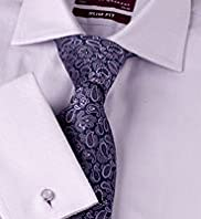 "2"" Longer Slim Fit Sartorial Pure Cotton Herringbone Shirt"