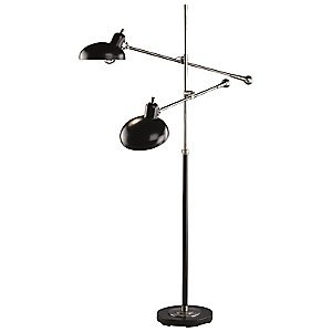 bruno adjustable double arm pharmacy floor lamp by robert. Black Bedroom Furniture Sets. Home Design Ideas