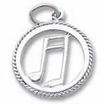 Rembrandt Charms Music Charm - Sterling Silver
