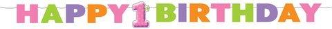 Big 1 Dots Girl Letter Banner