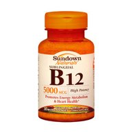 Sundown Naturals Sundown Naturals Vitamin B-12, 30 Tablets 5000 Mcg(Pack Of 2)