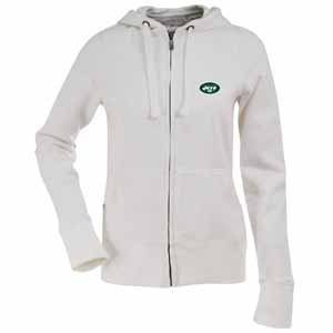 NFL Women's New York Jets Signature Full Zip Hood (White, Small) at Amazon.com