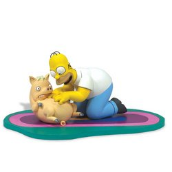 Picture of McFarlane The Simpsons Movie: Homer & Plopper Figure (B000V209OE) (McFarlane Action Figures)