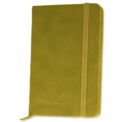 silvine-executive-soft-feel-notebook-ruled-with-marker-ribbon-160pp-90gsm-143x90mm-lime-green-ref-19