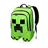 Minecraft Creeper Polyester Shoulder Bag Backpack Rucksack (Color: Minecraft Creeper)