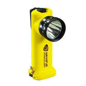 The Rugged and Dependable Survivor LED Rechargeable Flashlight in Yellow