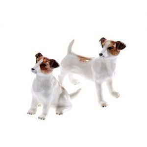 At home in the country - Jack Russell Salt & Pepper Set by At home in the country