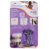 Dreambaby Magnetic Knobs with 4 Screws, White