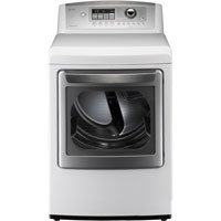 LG DLE5001W 7.3 Cu. Ft. White Stackable With Steam Electric Front Load Dryer