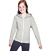 Cotton Rich Zip Through Hooded Sweat Top