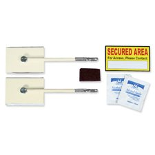 """Unimed-Midwest, Inc. Products - Security Lock Kit, w/ Two 5-1/2"""" Cables, Ivory - Sold as 1 EA - Security Lock Kit helps you quickly and easily secure controlled substances, expensive items and more in small cabinets, carts, coolers, refrigerators and drawers. Kit includes 2"""" x 3"""" steel plates (3mm thick) with 5-1/2"""" cables, surface cleaning kit, and """"Secured Area"""" sticker. Water-resistant sticker directs users to the proper key-holding authority. Easy-to-install design helps you avoid costly int"""