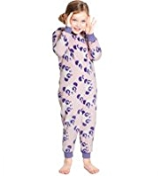 Hooded Panda Fleece Onesie