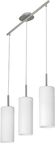 Eglo-85978-Lampadario-a-sospensione-modello-Troy-3-a-3-luci-in-acciaio-opaco-e-vetro-satinato-HV-3-x-E27-max-60-W-lampadine-non-incluse-72-x-105-x-110-cm