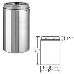 Selkirk Metalbestos 8Ut-24 8-Inch X 24-Inch Stainless Steel Insulated Chimney Pipe