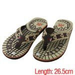 Men's Summer Foam Sandals Slippers for Indoor/Outdoor(Brown/43 Size)
