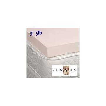 3' 5lb. Sensus Visco Elastic Memory Foam Mattress Pad Topper
