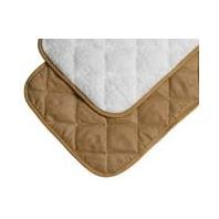 3 PACK DELUXE QUILTED REVERSIBLE MAT, Color: TAN/WHITE; Size: 29 X 17.5 (Catalog Category: Dog:BEDS & MATS)