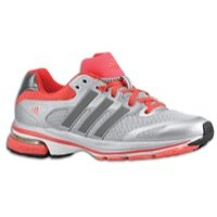Adidas Women\'s Supernova Glide 5 Running Shoes-Gray/Silver/Coral-10