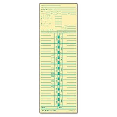 Time Card for Acroprint and Lathem, Weekly, 3-1/2 x 10-1/2, 500/Box