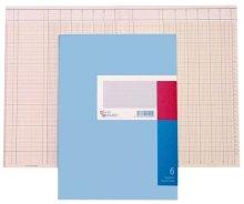 cahier à colonnes format A4, 16 colonnes, 40 pages, avec barre de titre, carne en carton (861166...
