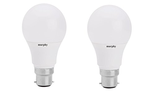 Murphy-10-W-B22-LED-Bulb-(White,-Pack-of-2)