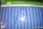 CIRCO Crib Dust Ruffle Toddler Bed Skirt BLUE & RED STRIPE