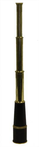 "28"" Hand Held Brass Pirate Telescope: Nautical Ship Scope"