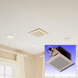 Energy Star Qualified 150 CFM Exhaust Fan.