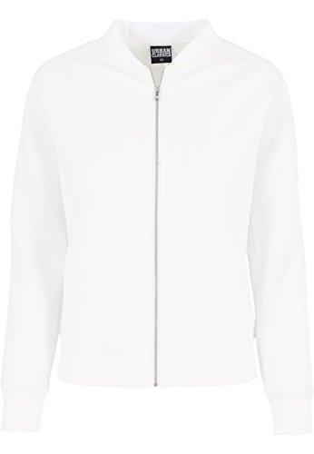Urban Classics - Jacke Scuba Raglan Mesh Jacket, Giacca Donna, Bianco (Offwhite), Medium (Taglia Produttore: Medium)