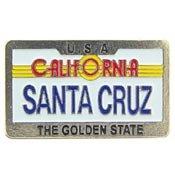 Metal Lapel Pin - California - Central Coast California - Santa Cruz License Plate