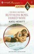Ruthless Boss, Hired Wife (Harlequin Presents Extra), KATE HEWITT