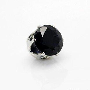 Earrings magnetic earrings Black 6 mm 2 piece set stainless steel hole open