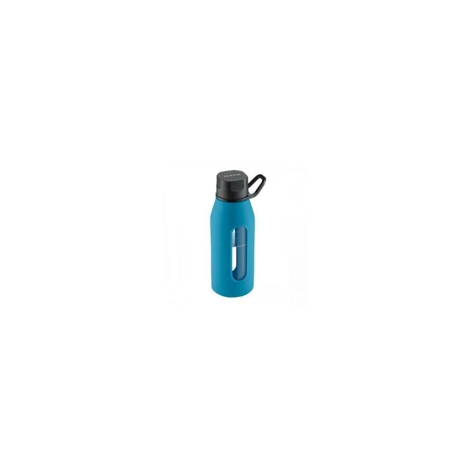 Glass Water Bottle 16oz Blue