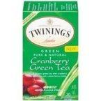 Twinings Cranberry Green Tea ( 6x20 CT) twinings english breakfast tea 2 g x25 sachets