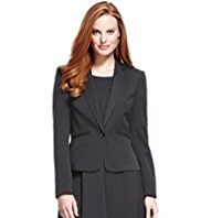 M&S Collection Notch Lapel 1 Button Seam Jacket