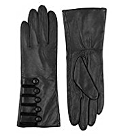 M&S Collection Leather Military Gloves