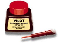 2 Pack Pilot Pen 43700 1oz Refill Ink for Permanent Markers - Red (SCRF-RED)