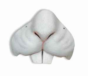Easter Bunny Rabbit Nose Animal Mini Mask Costume White