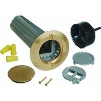 Thomas & Betts E971Fbdi-2 Drop In Floor Box Kit With Solid Brass Cover, 12 Cuin Capacity