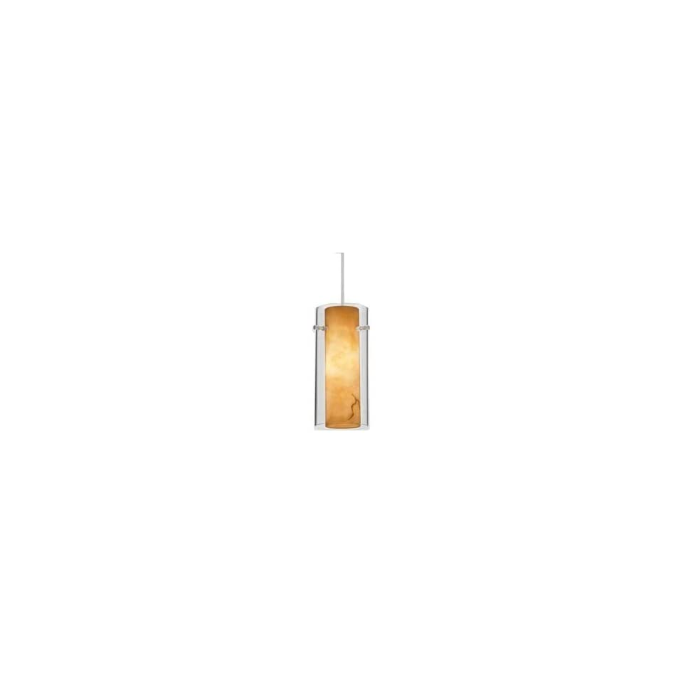 P160MP   Alfa Lighting   Tubes Art Glass Pendant on Single Dome MonoPoint
