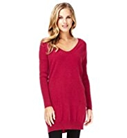 M&S Collection Pure Cashmere Front Pockets Knitted Tunic