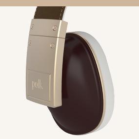 Polk buckle over-ear headphones built with superior materials