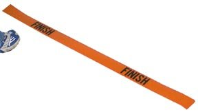 "POLY ""FINISH"" LINE 4' ORANGE"