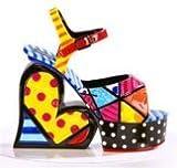 Romero Britto Platform Shoe Figurine